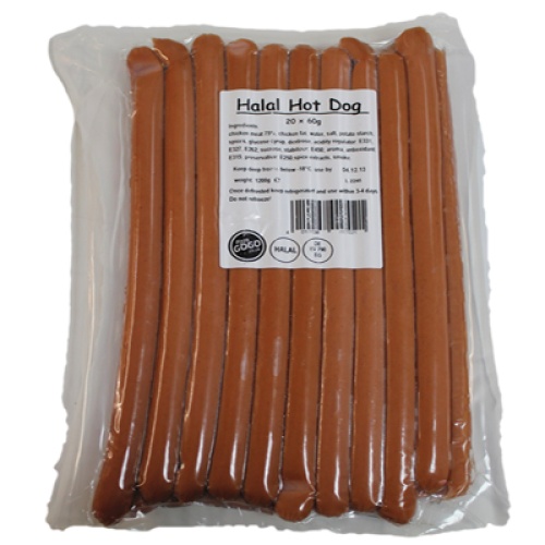 Halal Hot Dog Ingredients