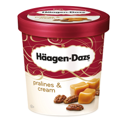 H Daz Pralines & Cream Ice Cream 8x460ml