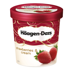 H Daz S/B & Cream Ice Cream 8x500ml