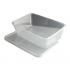 650ml Microwave Clear Plastic Conts + Lids x250