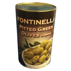Pitted Green Olives 6x4.25kg