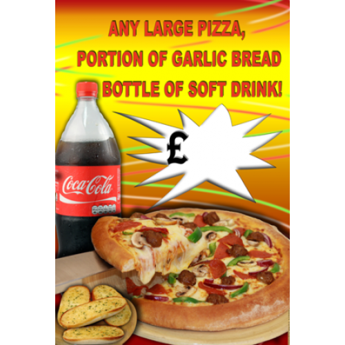 Full Colour Poster No1 Any Large Pizza